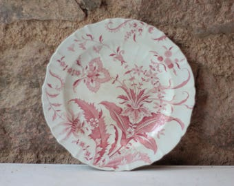 Single Vintage French Ironstone Plate - Mintons Norfolk