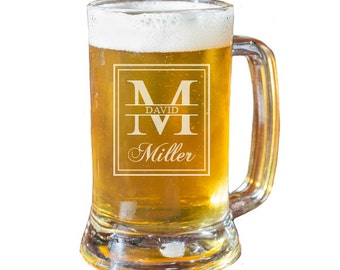 Personalized Beer Mugs, Husband Gift, Anniversary Gift, Beer Gift, Engraved Beer Glass