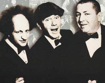 Three Stooges Knuckleheads  Rare Vintage Poster
