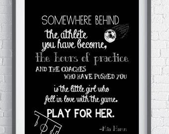 A soccer gift for Soccer Players who love the game - Instant Download - Wall Art, inspirational quote. Gift to frame for a soccer player.