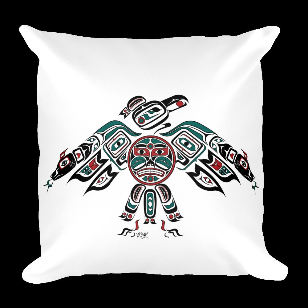 custom pillow haida tlingit thunderbird native american