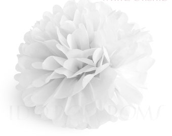 white orchid tissue paper pom poms wedding party decorations baby shower decorations