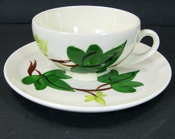 Blue Ridge Southern Pottery Baltic Ivy Dessert Cup and Saucer Set