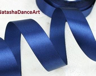 Navy Blue ribbon 1'' /25 mm/, satin ribbon, ribbon by the yard, fabric ribbon, ribbon for bows, sewing ribbon, ribbon for crafts, 3 meters