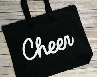 Personalized Sports Tote Bag, Cheer Tote Bag, Cheer Mom Bag