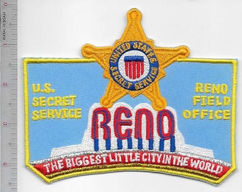 US Secret Service USSS Nevada Reno Field Office the Biggest Little City in the World Patch