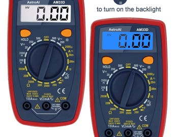 Digital Multimeter with Ohm Volt Amp and Diode Test with Backlit LCD USA Seller Fast Shipping