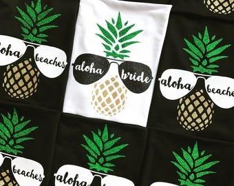Beach Bachelorette Party Shirts Aloha Beaches Girl Weekend Shirt Mexico Bachelorette Tanks Bridal Party Tanks Bridesmaid Tanks Wedding Tanks