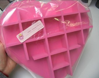 Pink Heart Shaped Hanging Wooden Display