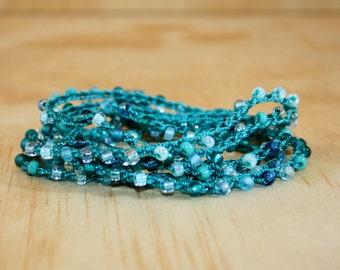 Beaded Crochet Bracelet - Crochet Wrap Bracelet - Bead Crochet - Beaded Bracelet - Beadwork Bracelet - Crochet Jewelry - Bead Bracelet