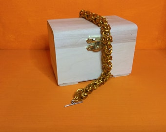 Gold byzantine weave Bracelet