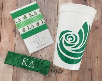 Kappa Delta Bid Day Bag; Kappa Delta Gift Bag; Sorority Gift Bag; Kappa Delta Big Little; Kappa Delta Cup, Hair Ties, Key Chain