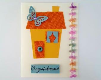 New Home Card Congratulations on Your New Home Handmade Card New House Card Housewarming Card New Home Keepsake Card
