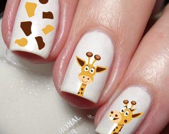 Giraffe Nail Art Sticker Water Transfer Decal 60