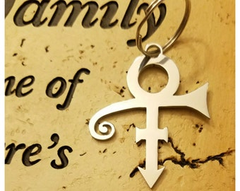 Prince Symbol Keychain, Silvertone***I will be on vacation from 6/10-6/20. Items will be shipped out on 6/21***