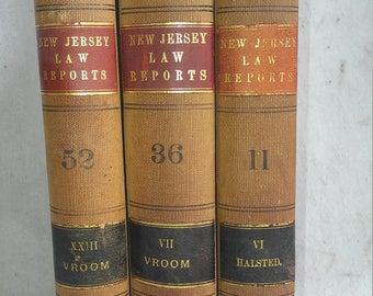 3 1870s antique law books