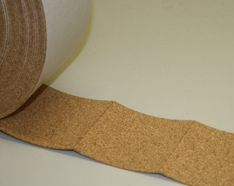 """3.25"""" x 3.25"""" Adhesive Backed Cork Square Tile Coaster Backing Material"""