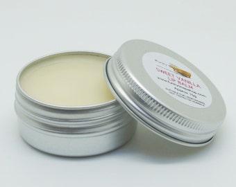 1 tin of 15g Sweet Vanilla Lip Balm, Handmade & natural