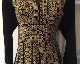 Black Dress / Thobe / Kaftan / Abaya with Gold Embroidery