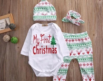 My first Christmas Outfit, Christmas Outfit, Baby Christmas Outfit