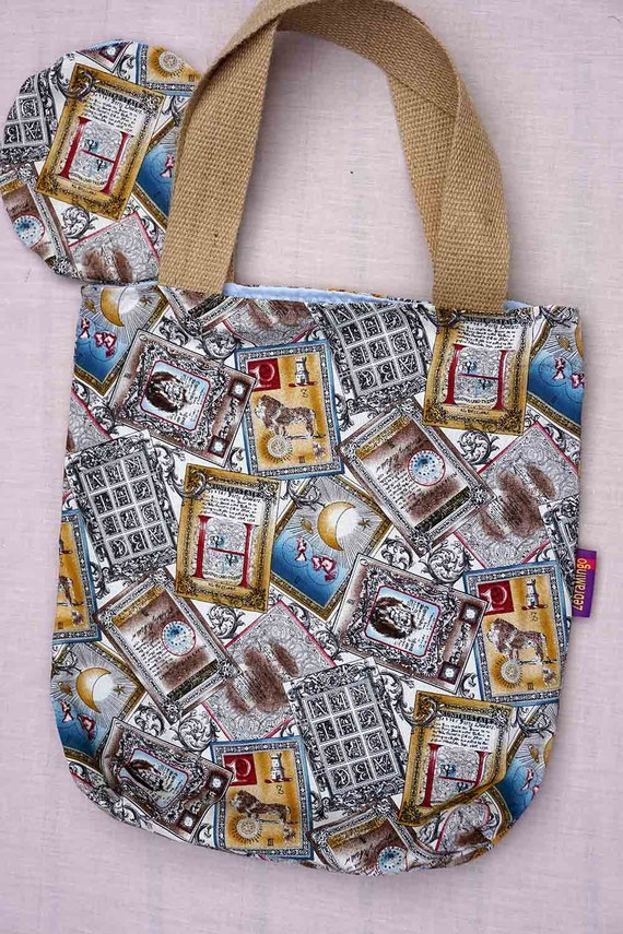 Tarot Bags Tarot Cards Cloths More: Tarot Card-themed Bag-in-a-bag Handy Bag In Its Own Pouch