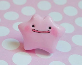 Ditto Inspired Polymer Clay Pin
