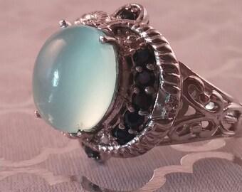 Karis Blue Moonestone Ring Vintage