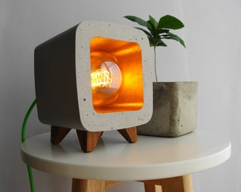 Concrete lamp, night light, design, vintage...