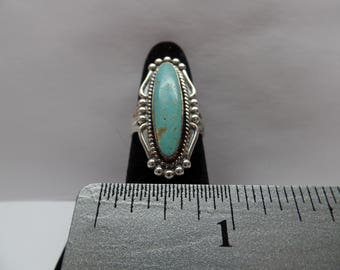 Vintage Sterling Silver Turquoise Ring / FCM