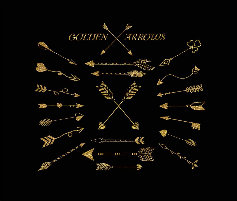 Gold Tribal Arrows Gold Arrow Clipart Glitter Arrow