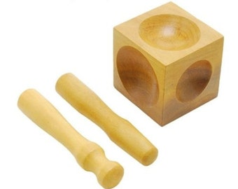 """Jewellers 2.5"""" Wooden Doming Punch + Block Dapping Tool Doming Set Wood"""
