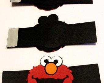 12 Elmo Napkin Ring/Elmo ring for your napkin wrap/ elmos party theme