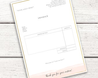 Business Invoice Template Marketing Materials INSTANT DOWNLOAD Photography Photographer
