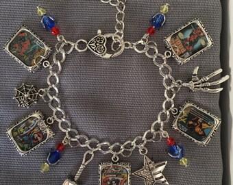 Handmade Superhero Inspired Charm Bracelet