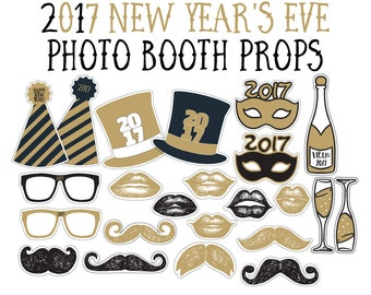 Party Photo Props - Prom 2017 - Photo booth Props - Party Props - New Years Ever Props New Years Eve Party - Party Selfie Props