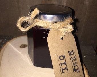 Cold pressed organic hemp seed oil