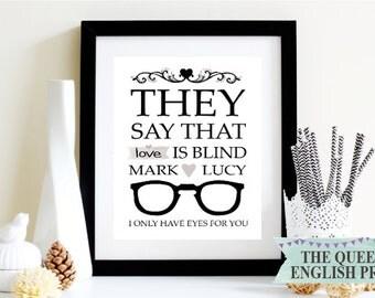 Love is Blind Optician's Personalised Print