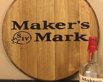 Maker's Mark Bourbon Barrel Head