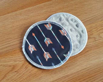 PUL outer breast pads - bamboo fleece nursing pads - breastfeeding pads - minky breast pads - washable - reusable pads - waterproof