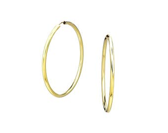 14K Gold Filled Hoop Earrings Large