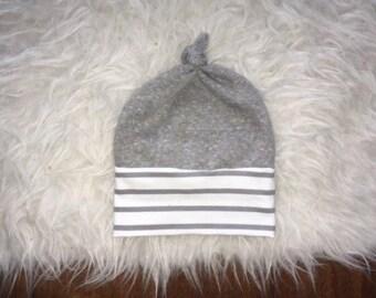 NEWBORN BABY BEANIE; baby beanies, gray baby hats, newborn hats