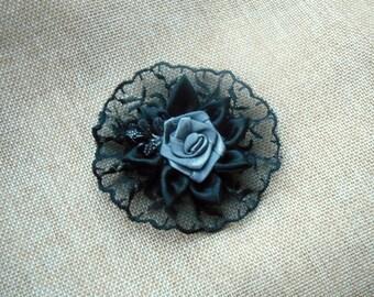 1pc. Black hairpin handmade Evening hair accessories Шпильки для волосся black and gray