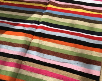 colorful striped kilim Rug