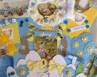 Easter paper crafting supplies- card making- gift tags- easter decorations- scrapbooking