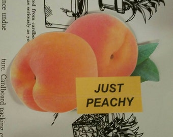 Just peachy aesthetic sticker
