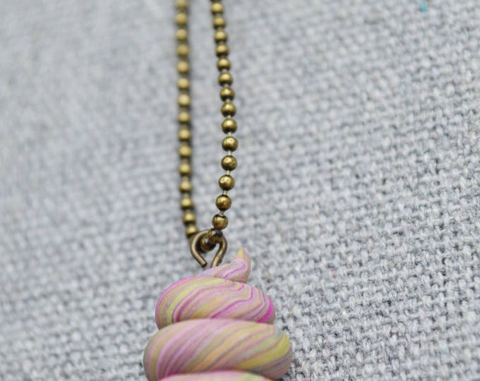 Rainbow poop necklace,good luck unicorn poop,good luck charm,good luck jewelry,unicorn jewelry,purple poop charm,handmade unicorn gift