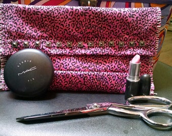 Leopard Print Make Up Bag