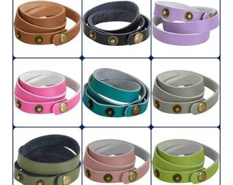 Leather Wrap Bracelet - Leather bracelet blank - leather cuff blank - wrap bracelet - leather bracelet wholesale