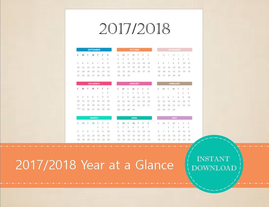 2017 2018 2019 3 year calendar
