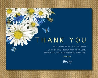 PRINTABLE | Floral Bridal Shower Thank you